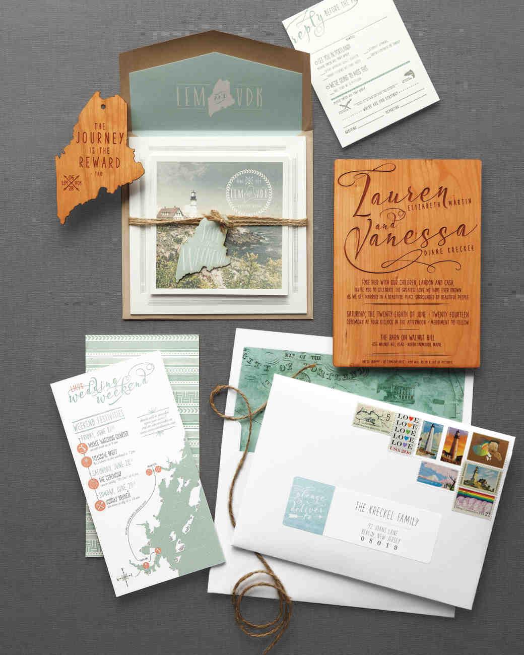 Manly Yunhee Kim Elevated Ideas Your Rustic Wedding Invitations Martha Wedding Invitation Suites Packages Wedding Invitation Suite Free Template wedding Wedding Invitation Suite