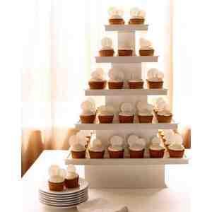 Stylish Wedding Cupcake Ideas Martha Stewart Weddings Cupcake Wedding Cakes Beach Med Cupcake Wedding Cake Dress