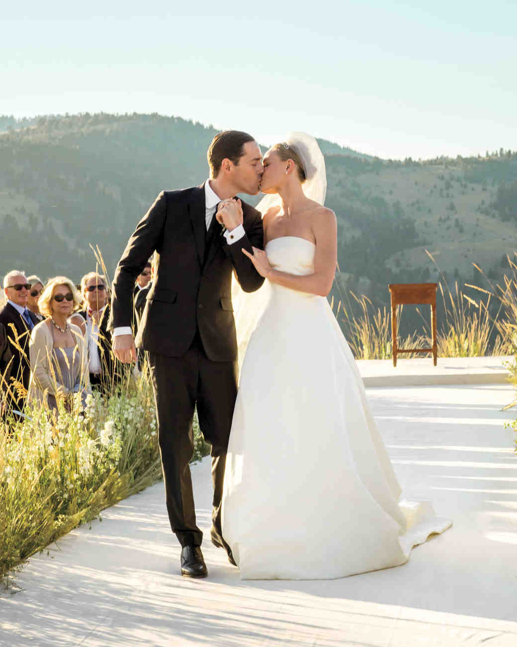 kate bosworth and michael polishs mountaintop ranch wedding montana michaels wedding invites It s Official