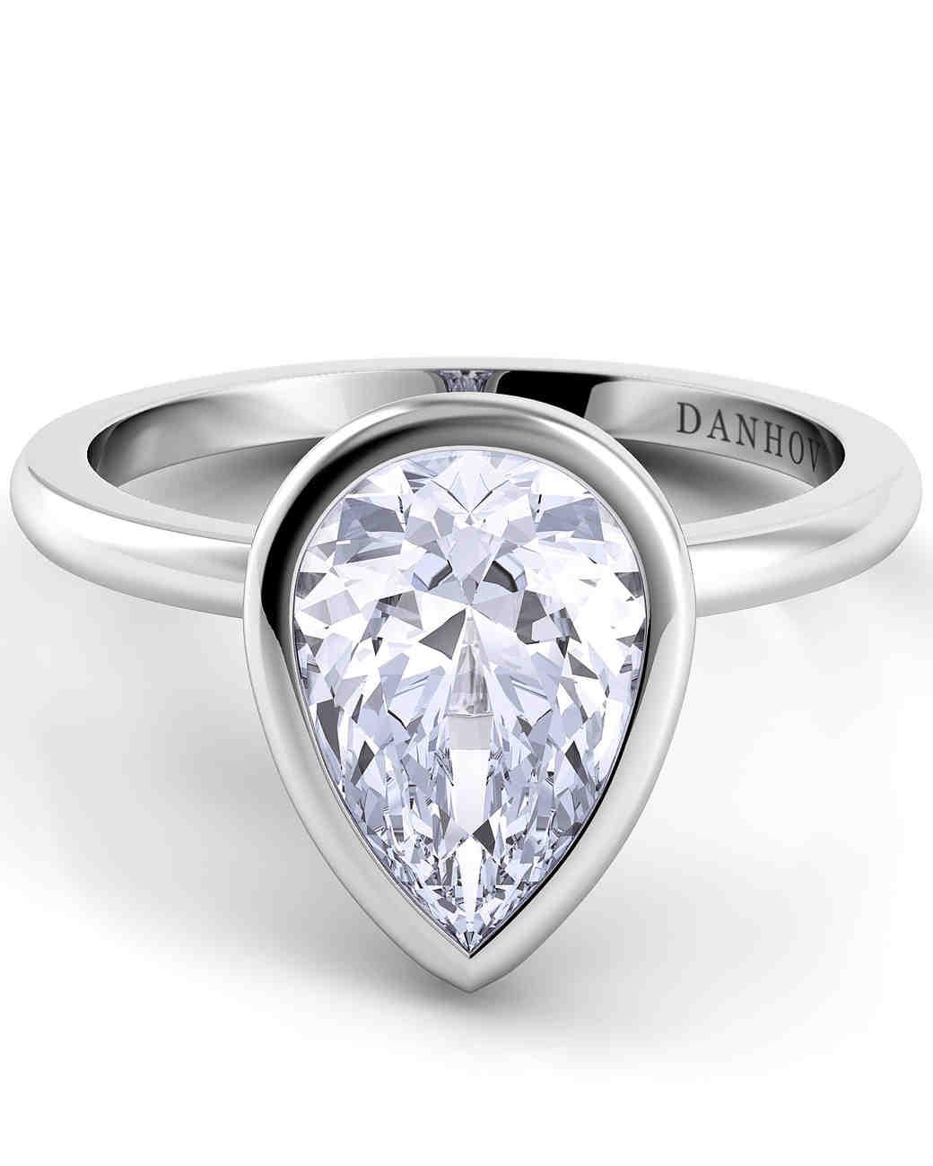 pear cut diamond engagement rings tear drop wedding ring Danhov Pear Cut Engagement Rings