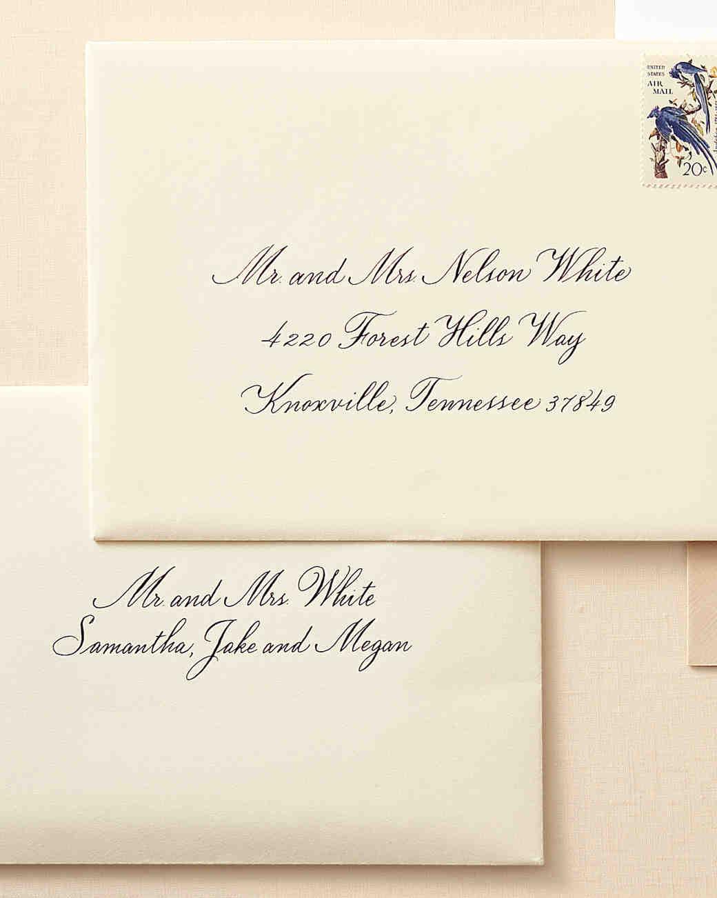 how to address wedding invitation envelopes wedding invitation envelopes To a Family With Children