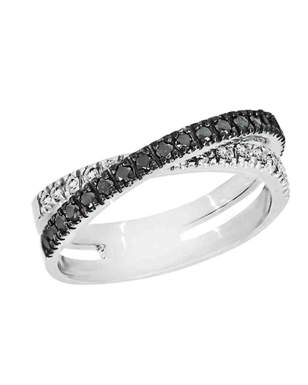 best black diamond engagement rings wedding rings black The New LBD The Little Black Diamond Engagement Ring Martha Stewart Weddings