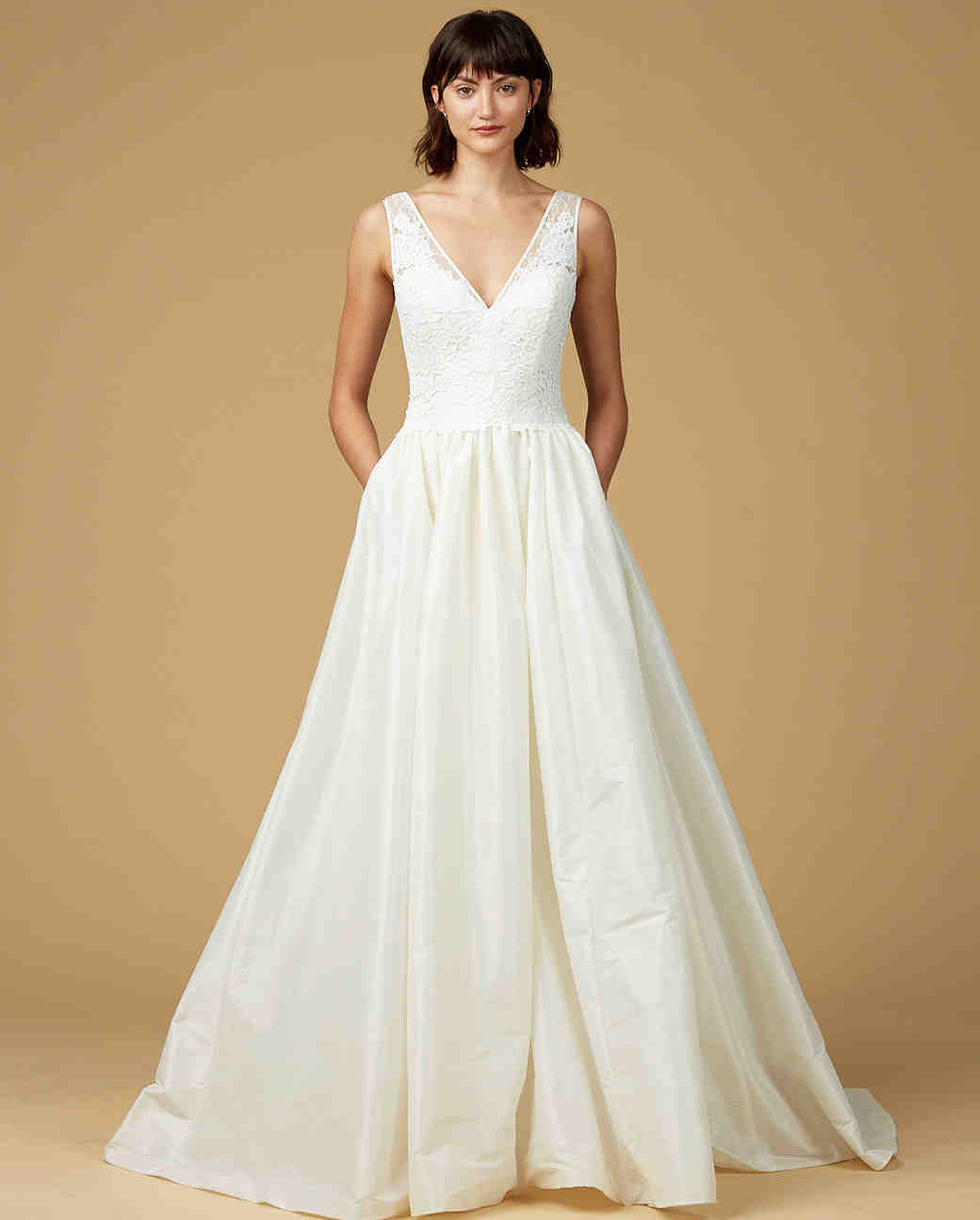 amsale nouvelle wedding dresses fall wedding dress with pockets Amsale Nouvelle Fall Wedding Dress Collection