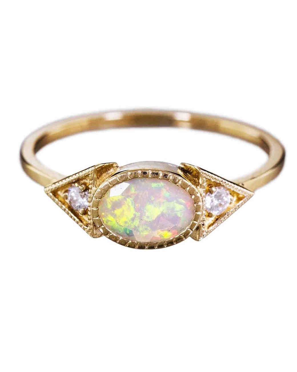 opal engagement rings crown wedding rings
