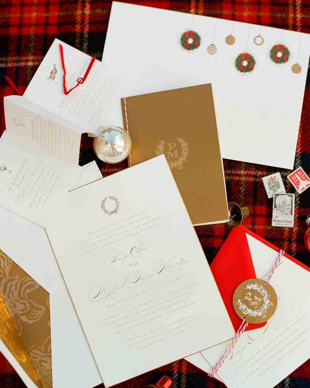 martha stewart wedding invitations michaels michaels wedding invites A Magical Christmas Themed Wedding In West Virginia Martha