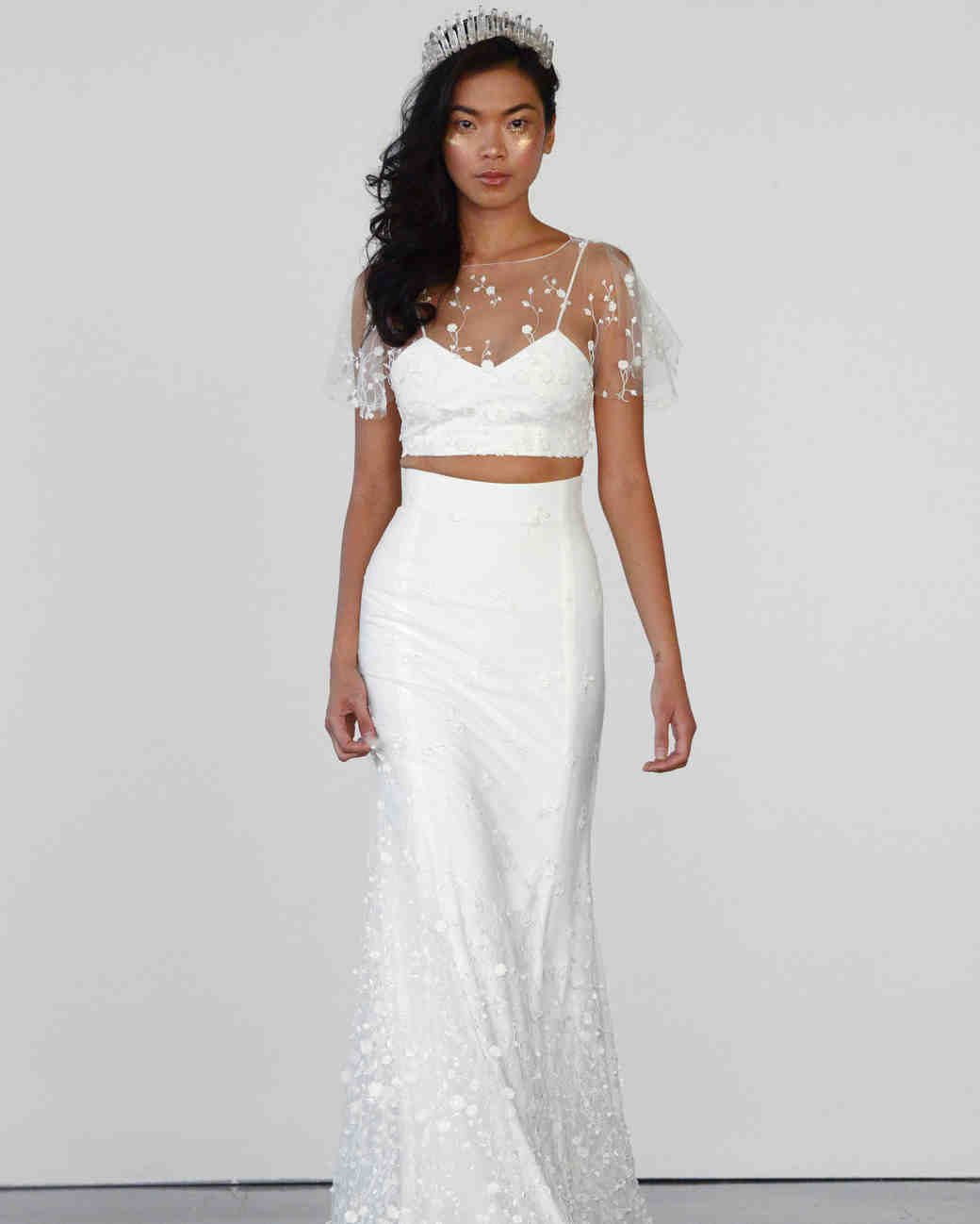 two piece wedding dresses party wedding dresses