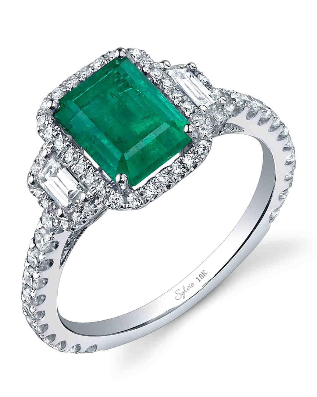 Examplary A Bride Martha Stewart Emerald Wedding Rings Women Emerald Wedding Rings Meaning Slyvie Collection Emerald Engagement Ring Emerald Engagement Rings wedding rings Emerald Wedding Rings