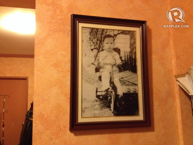 YOUNG RODY. A photo of the mayor as a toddler is displayed near the entrance to his bedroom.