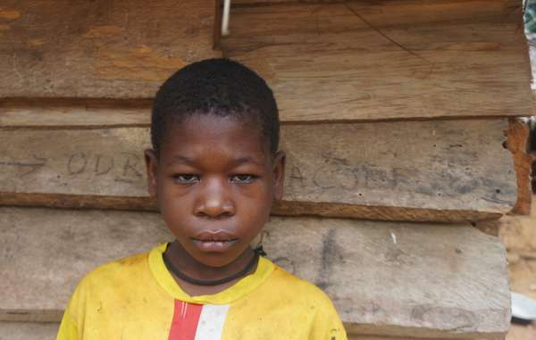 This Baka girl was tortured by a WWF-funded anti-poaching squad in Cameroon early 2016. She was 10 years old at the time.