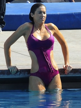 Katherine Webb Gets Wet