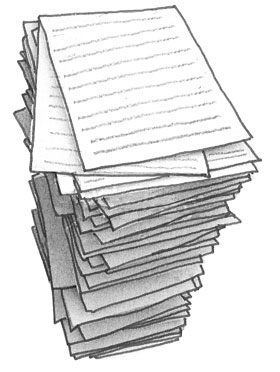 Illustration of a stack of papers