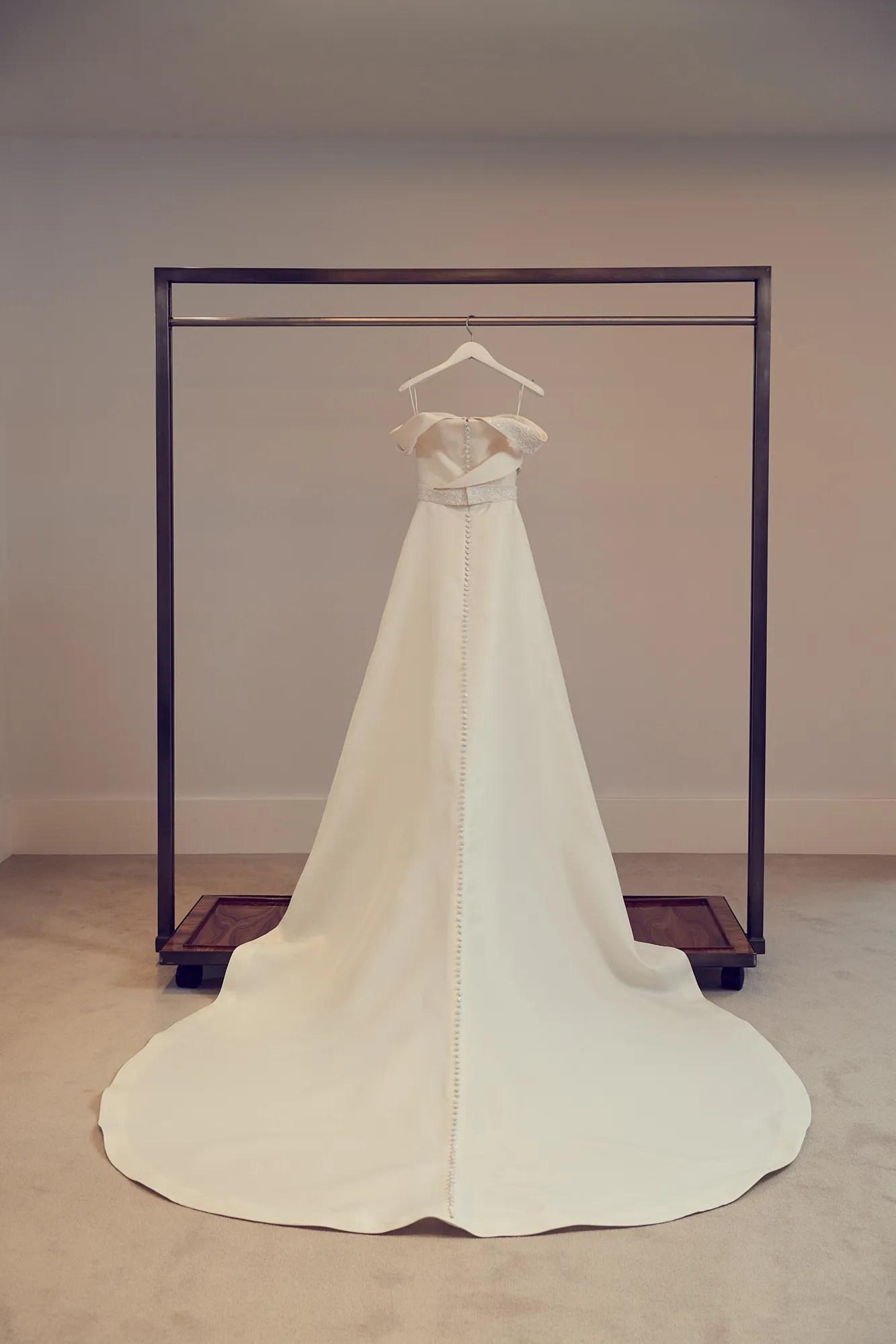 emmy rossum wedding carolina herrera party wedding dresses Emmy Rossum Wears Carolina Herrera to Wed Sam Esmail in New York City Vogue