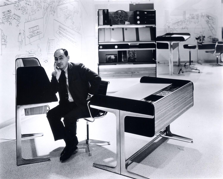 George nelson architect designer writer teacher - Herman miller office desk ...
