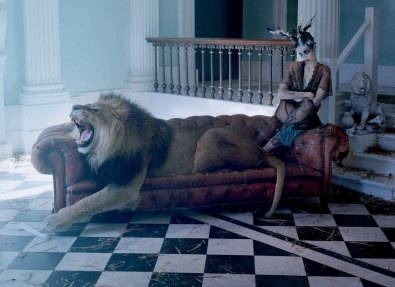 The Lion King by Tim Walker for Love Magazine FW13 | Yellowtrace.