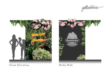 Gumtree Garden Pop-Up Bar | Yellowtrace Concept Design & Entry Wall Sketch