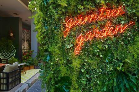 Gumtree Garden Pop-Up Bar, Designed by Yellowtrace | Entry Wall and Signage