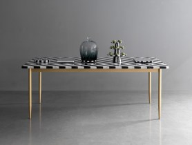 Dining Table Herringbone by Bethan Gray & Lapicida | Yellowtrace