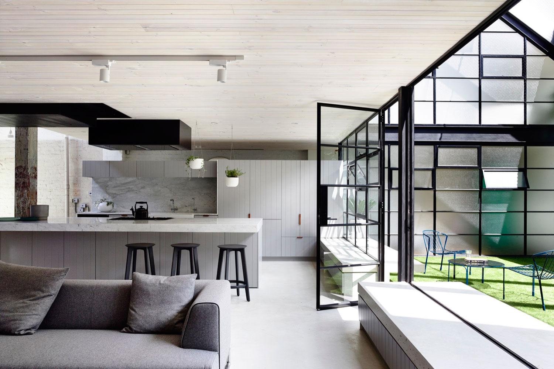 Fitzroy loft by architects eat yellowtrace Australian loft house plans