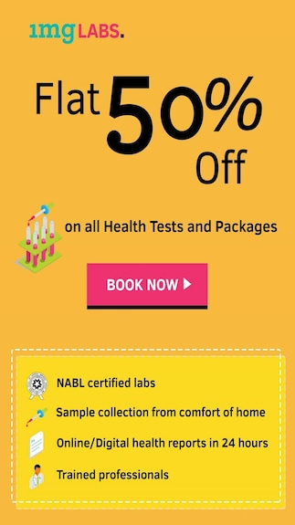 Get an additional 50% discount across all lab tests and health checkup packages when you pay via Paytm wallet