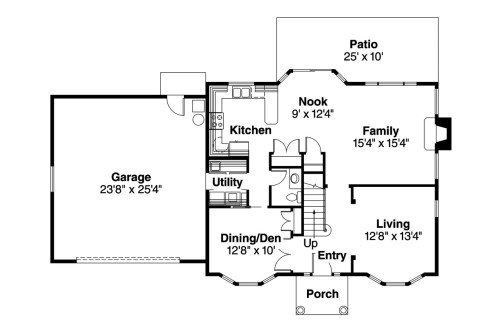 Medium Of Colonial House Plans