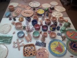 Les poteries des enfants sont cuites !
