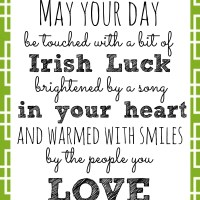 Irish Blessing Printable for St. Patrick's Day