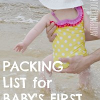 Packing List for Baby's First Beach Trip