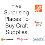 Five Surprising Places To Buy Craft Supplies