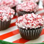 """Peppermint Bark"" Cupcakes"