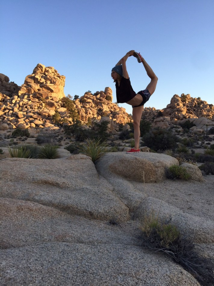Lesley Logan Pilates Scorpion Joshua Tree