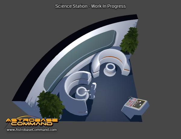 Here you can see the Science Station, where the crew can commit science to their heart's content