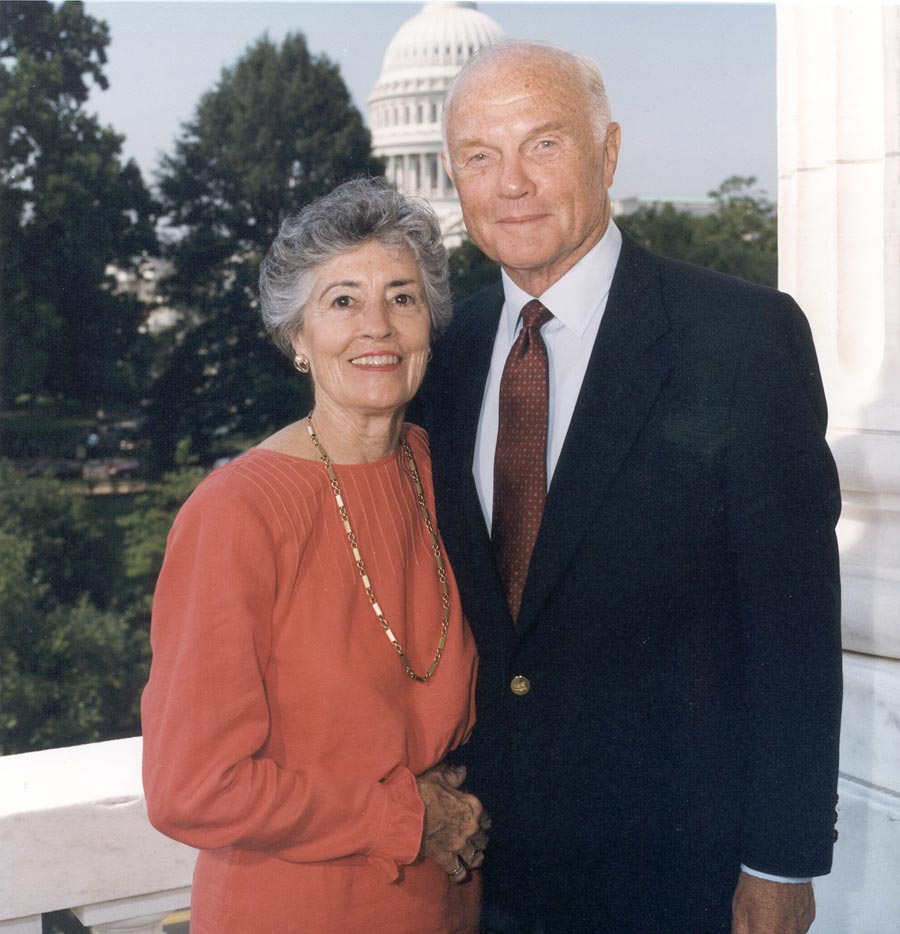 who are your heroes astronaut rhea seddon john and annie glenn