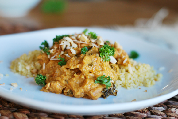 Slow Cooker Coconut Cashew Chicken