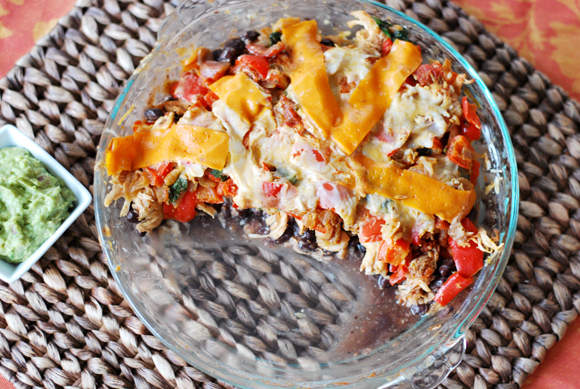Shredded Chicken Mexican Pie