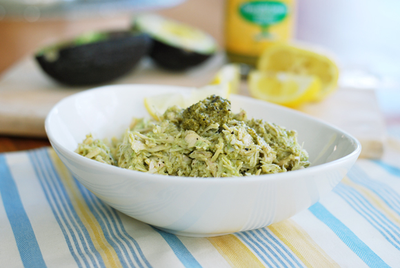 Lemon Pesto &amp; Avocado Chicken Salad