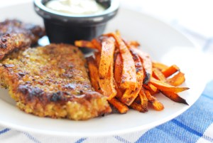 Paleo Fried Fish Sticks