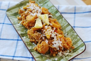 Pineapple Coconut Shrimp &#8220;Fried&#8221; Quinoa