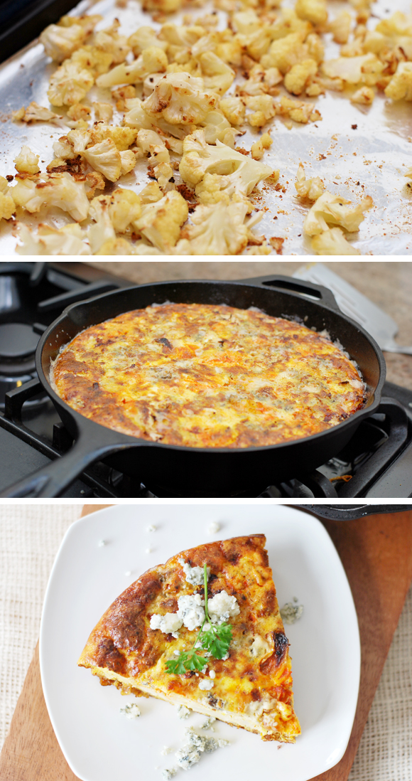 Buffalo Cauliflower Fritatta
