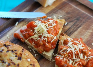 Sausage & Pepperoni Pizza Bruschetta