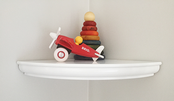Nursery Corner Toy Shelf