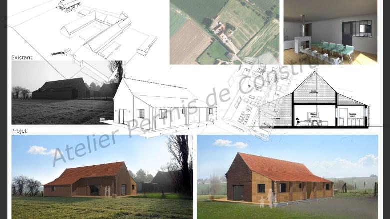Renovation for Transformation grange en habitation permis de construire