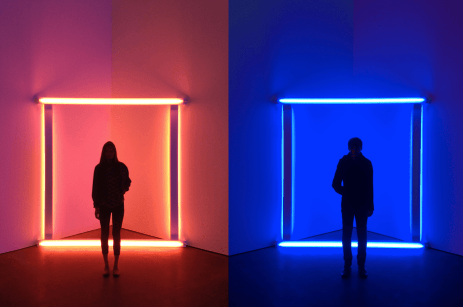 Dan Flavin exhibition David Zwirner by David Urbanke