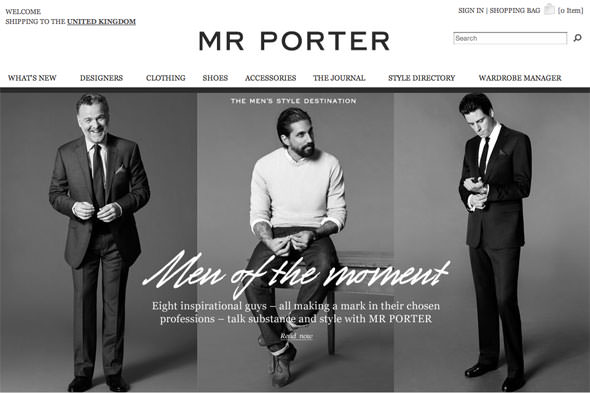 Mr porter home page