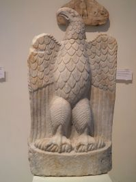 Marble eagle with open wings, from the sanctuary of Zeus Hypsistos, Archaeological Museum, Dion