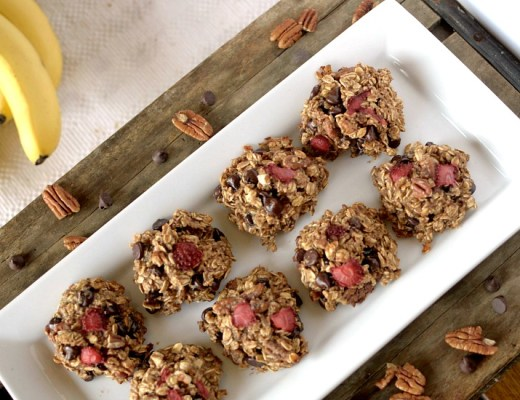 Easy-to-make, healthy and delicious Banana Split breakfast cookies that taste like that original thing!