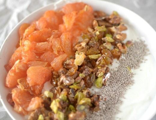 roasted grapefruit baklava breakfast bowl 2
