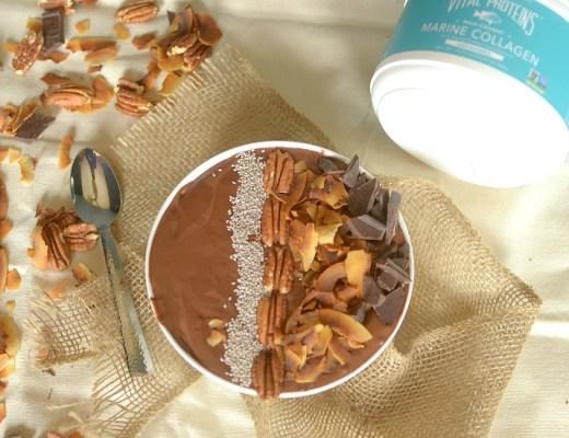 German Chocolate Cake Protein Smoothie Bowl 3
