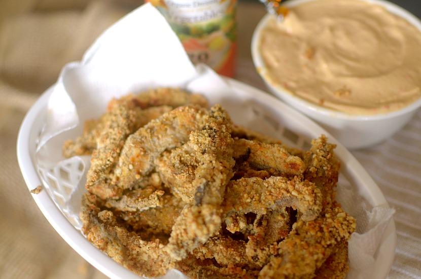 Crispy Cashew Portobello Mushroom Fries with Carrot Ginger ...