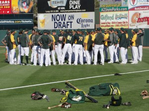 The team hits the field at Phoenix Muni