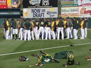 The team hits the field at Phoenix Muni